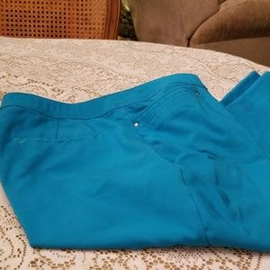 Signature Slimming, Size 16, Blue Turquoise Ankle